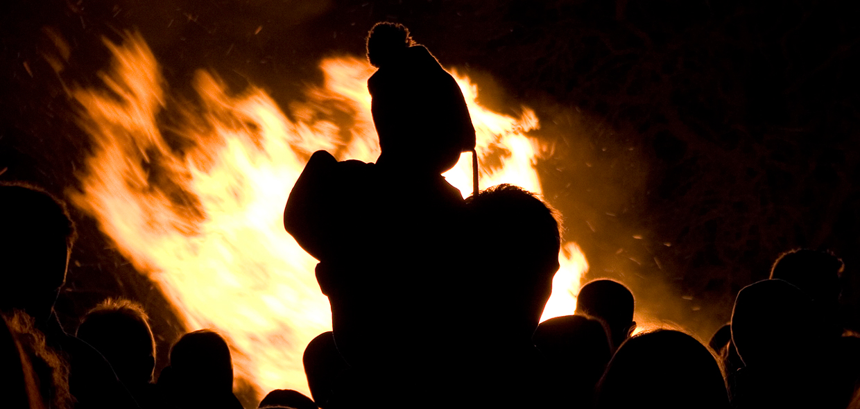 bonfire night in Hesket Newmarket